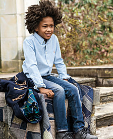 Ralph Lauren Blake Oxford Shirt & Slim-Fit Jeans, Toddler, Little Boys & Big Boys