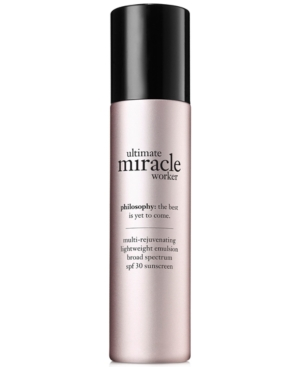 philosophy ultimate miracle worker lightweight emulsion Spf 30, 1.5 oz