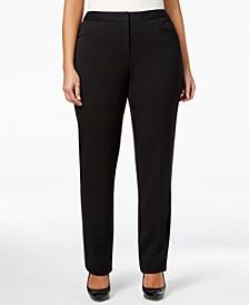 Plus & Petite Plus Size Modern Straight-Leg Pants, Created for Macy's