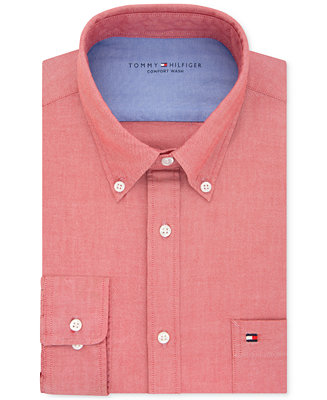 Tommy hilfiger men 39 s slim fit comfort wash untucked dress for Untucked shirts for sale