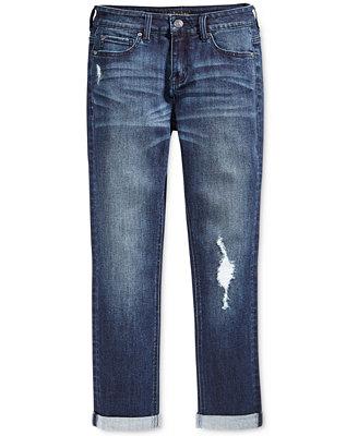 celebrity pink cuffed distressed boyfriend jeans big