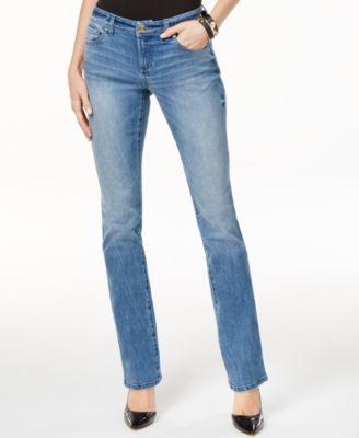 Inc international concepts petite bootcut jeans medium wash
