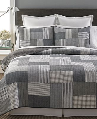 CLOSEOUT! Martha Stewart Collection 100% Cotton Salt & Pepper King ... : macys bedding quilts - Adamdwight.com
