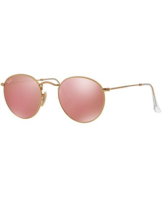ray ban sunnies vhcy  Ray-Ban Sunglasses, RB3447 50 ROUND METAL