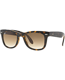 Ray-Ban Sunglasses, RB4105 54 FOLDING WAYFARER