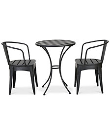 Ronen 3-Piece Bistro Set, Quick Ship