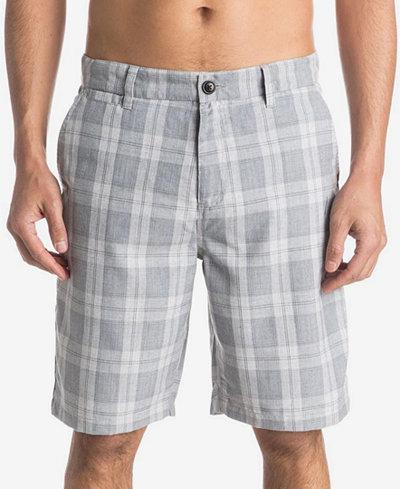 Quiksilver Men's Regeneration Plaid Shorts - Shorts - Men - Macy's