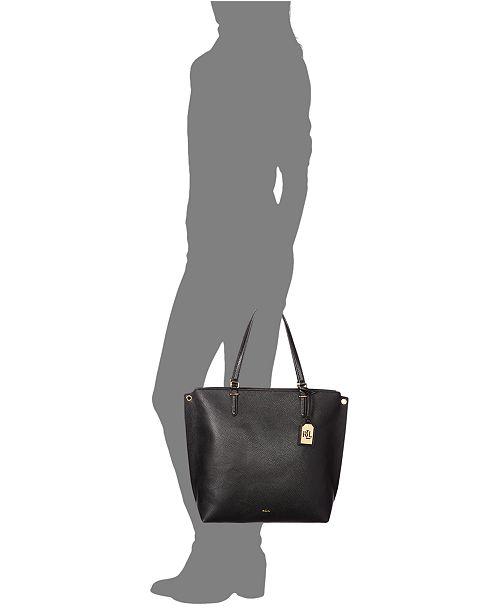 Lauren Ralph Lauren Faux-Leather Medium Abby Tote - Handbags ... 3ed8afd88f