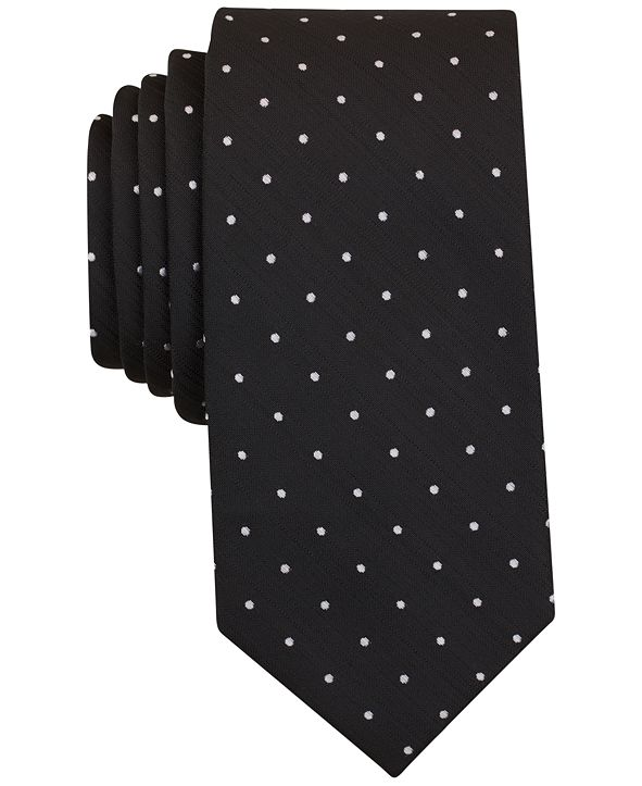 Bar III Men's Canyon Dot Skinny Tie, Created for Macy's