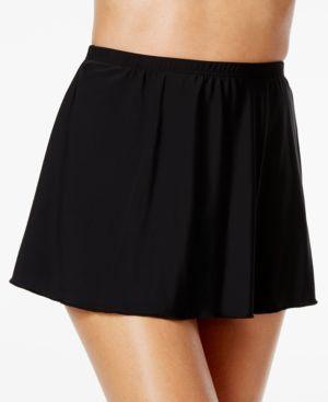 MIRACLESUIT High-Waist Allover Slimming Swim Skirt Women'S Swimsuit in Black