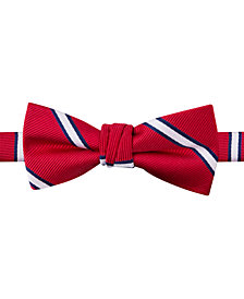 Tommy Hilfiger Repp Stripe Bow Tie, Big Boys