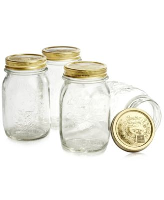 Quattro Stagioni 17oz. Canning Jars, Set of 4