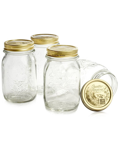 Bormioli Rocco Quattro Stagioni 17oz. Canning Jars, Set of 4