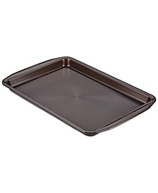 "Symmetry Nonstick Chocolate Brown 10"" x 15"" Cookie Pan"