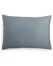 """Calvin Klein Quilted Metallic Dash 15"""" x 22"""" Decorative Pillow"""