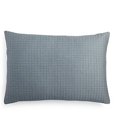 "Calvin Klein Quilted Metallic Dash 15"" x 22"" Decorative Pillow"