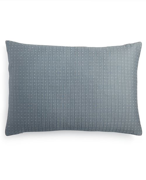 Calvin Klein Quilted Metallic Dash 40 X 40 Decorative Pillow Adorable Calvin Klein Decorative Pillows