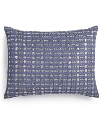 "Metallic Stitched 12"" x 16"" Decorative Pillow"