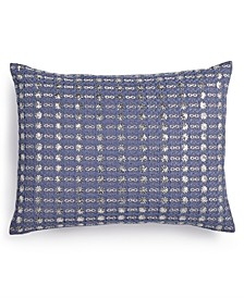 "Metallic Stitched 12"" x 16"" Decorative Pillow"
