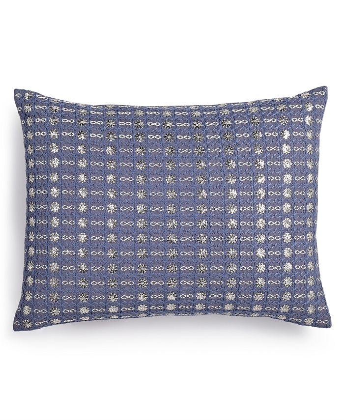 "Calvin Klein - Metallic Stitched 12"" x 16"" Decorative Pillow"