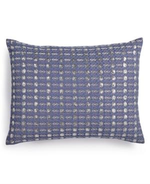 "Image of Calvin Klein Metallic Stitched 12"" x 16"" Decorative Pillow Bedding"