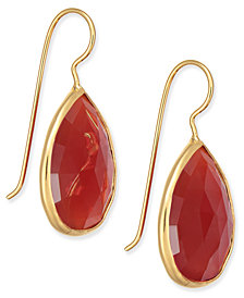 Paul & Pitü Naturally Faceted Stone Teardrop Earrings