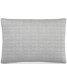 Hotel Collection Modern Plaid Quilted Standard Sham, Created for Macy's