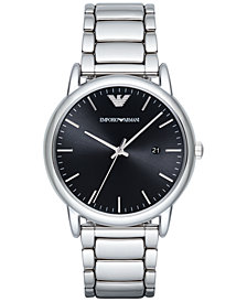 Emporio Armani Men's Luigi Stainless Steel Bracelet Watch 43mm AR2499