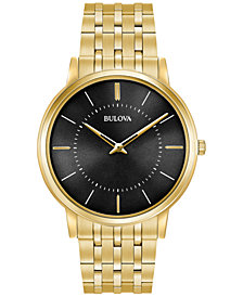 Bulova Men's Dress Gold-Tone Stainless Steel Bracelet Watch 40mm 97A127