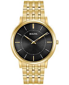Bulova Men's Dress Gold-Tone Stainless Steel Bracelet Watch 40mm 97A127