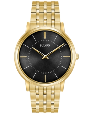 Bulova Men's Dress Gold-Tone...