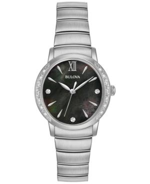 Bulova Women's Diamond Accent Stainless Steel Bracelet Watch