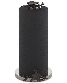 Michael Aram Black Orchid Collection Paper Towel Holder