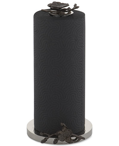 paper towel. Michael Aram Black Orchid Collection Paper Towel Holder