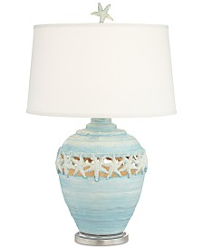 Pacific Coast Blue Starfish Table Lamp