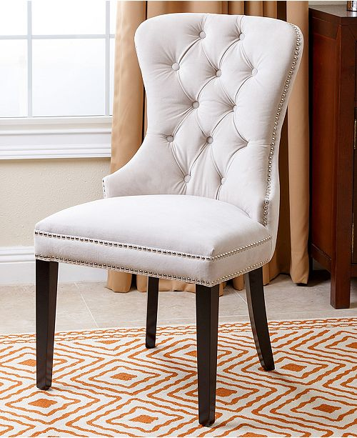 Abbyson Living Dyana Tufted Dining Chair Quick Ship Furniture Macy S