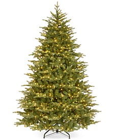 "7.5' ""Feel Real"" Nordic Spruce Medium Hinged Christmas Tree with 900 Clear Lights"