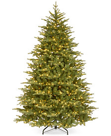 """National Tree Company 7.5' """"Feel Real"""" Nordic Spruce Medium Hinged Christmas Tree with 900 Clear Lights"""