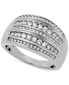 Diamond Multi-Row Statement Ring (1/2 ct. t.w.) in Sterling Silver