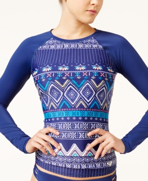 Roxy Exotic Printed Rash Guard Women's Swimsuit