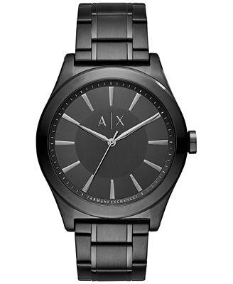 A|X Armani Exchange Men's Black Stainless Steel Bracelet Watch 44mm AX2326