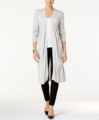 Joseph A Open-Front Duster Cardigan - Sweaters - Women - Macy's
