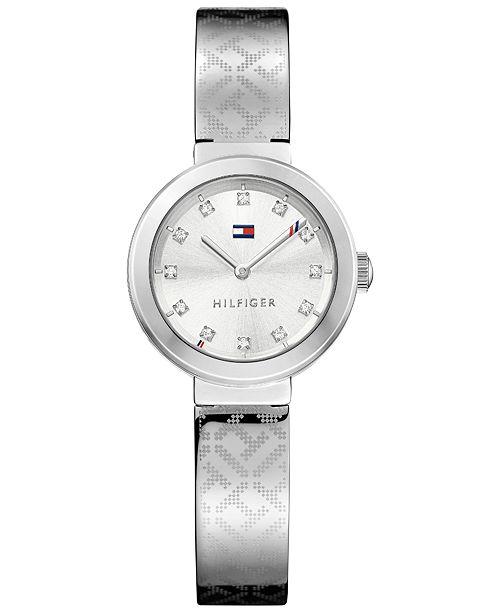 e2e46ec31 ... Tommy Hilfiger Women s Sophisticated Sport Stainless Steel Bangle  Bracelet Watch 28mm 1781714 ...