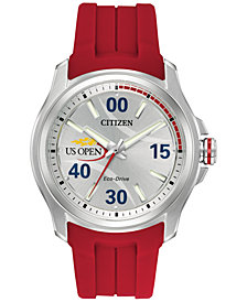 Citizen Unisex US Open Series Red Strap Watch & Interchangeable Blue/Red Nato Strap 43mm AW2011-08A