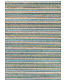 "Couristan Monaco Indoor/Outdoor Marbella Blue Mist-Ivory 2'3"" x 7'10"" Runner Area Rug"