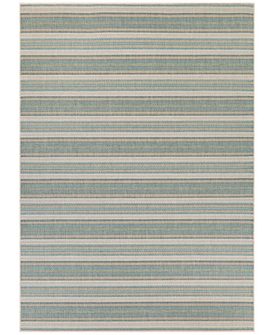 Couristan Monaco Indoor/Outdoor Marbella Blue Mist-Ivory 5'10