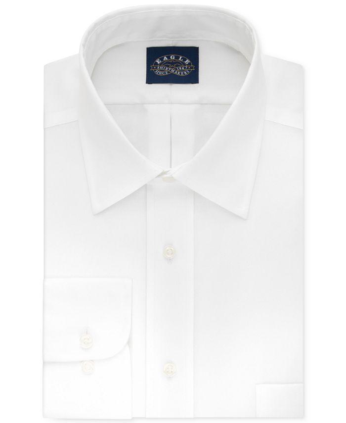 Eagle - Men's Classic-Fit Non-Iron White Solid Dress Shirt