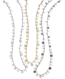 Nine West Hammered Disc Strand Necklaces
