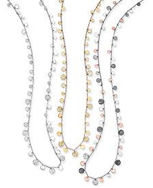 Nine West Hammered Disc Strand Necklaces