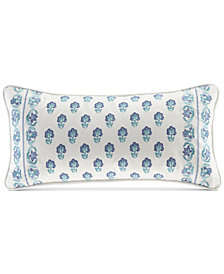 """CLOSEOUT! Echo Woodstock Embroidered 10"""" x 20"""" Oblong Decorative Pillow"""